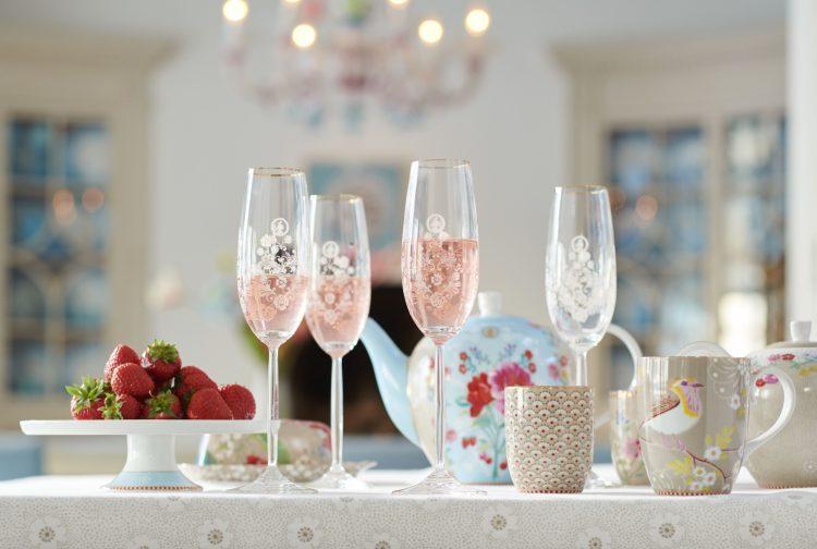 Pip Studio Floral samppanjalasit kuohuviinilasit