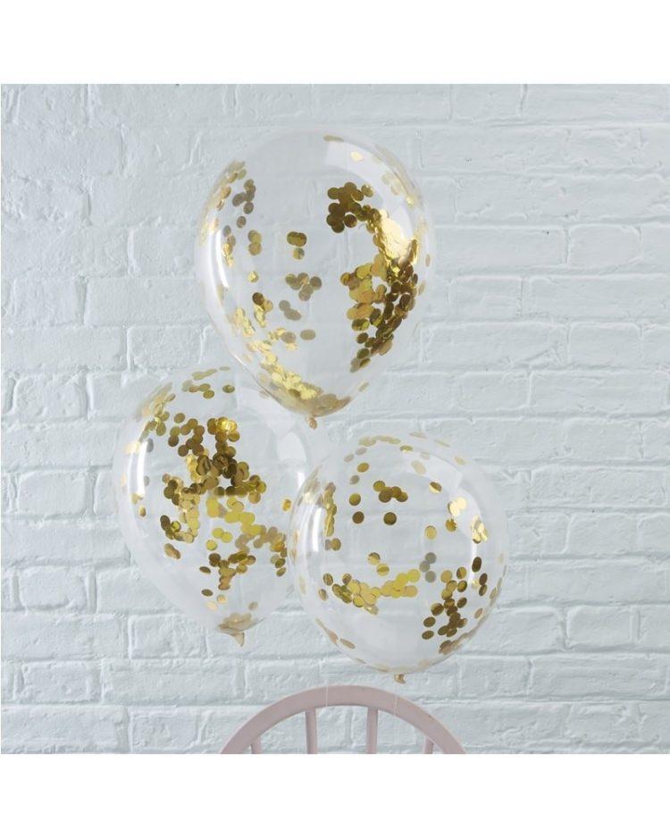 Kullanväriset konfetti-ilmapallot