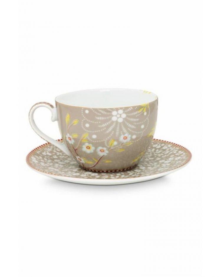 Early bird teekuppi ja lautanen