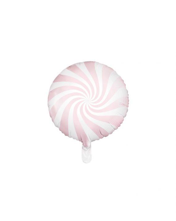 Vaaleanpunainen foliopallo candy