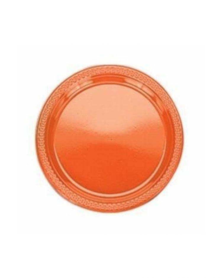 Oranssit kertakäyttölautaset