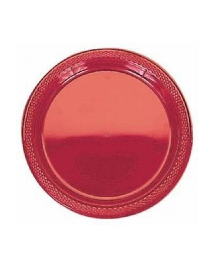 Kertakäyttölautanen punainen