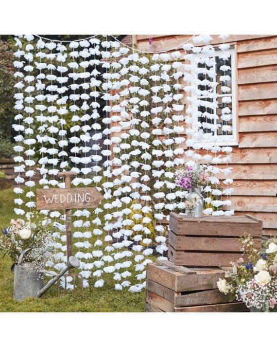 Kukkaseinä valkoinen
