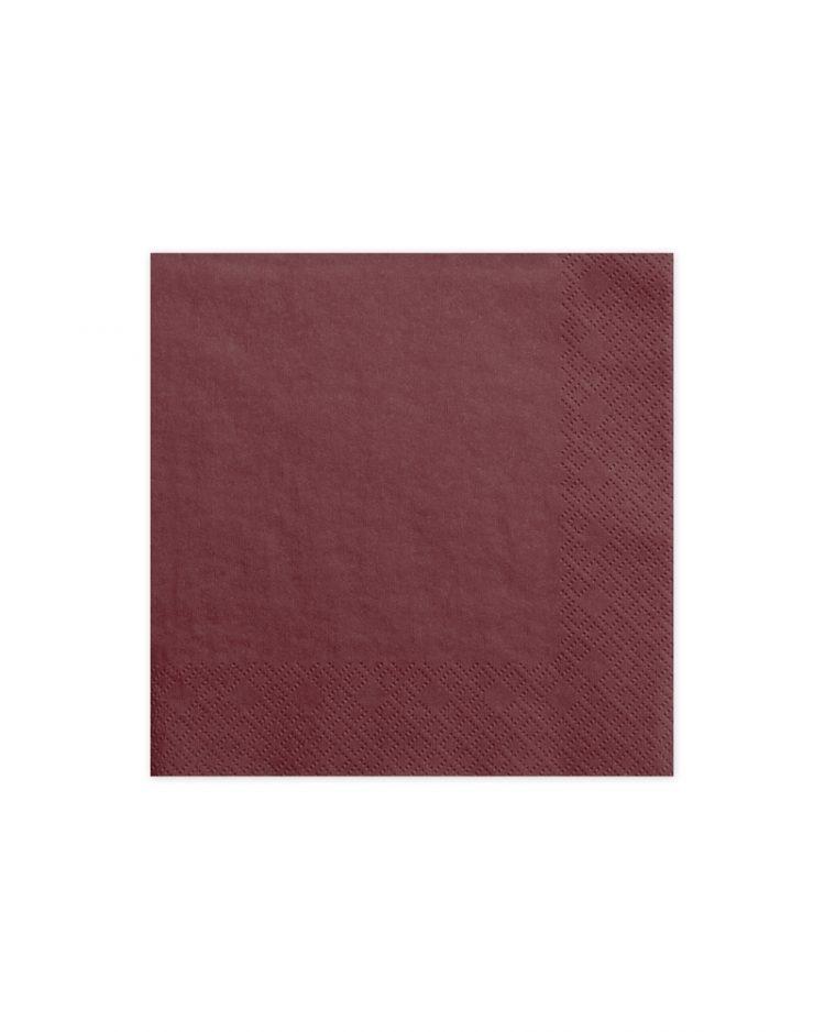 tummanpunaiset servetit