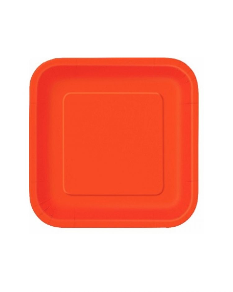 Oranssit pahvilautaset