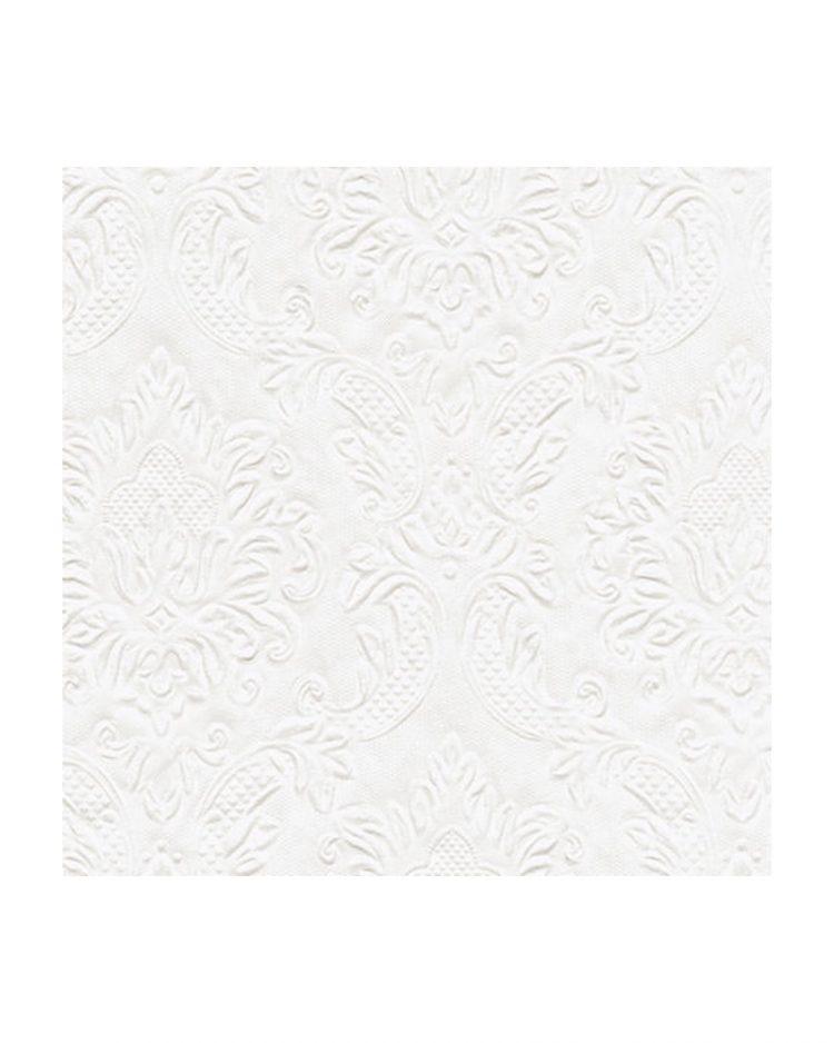 Valkoiset ornamenttikuvioiset servetit