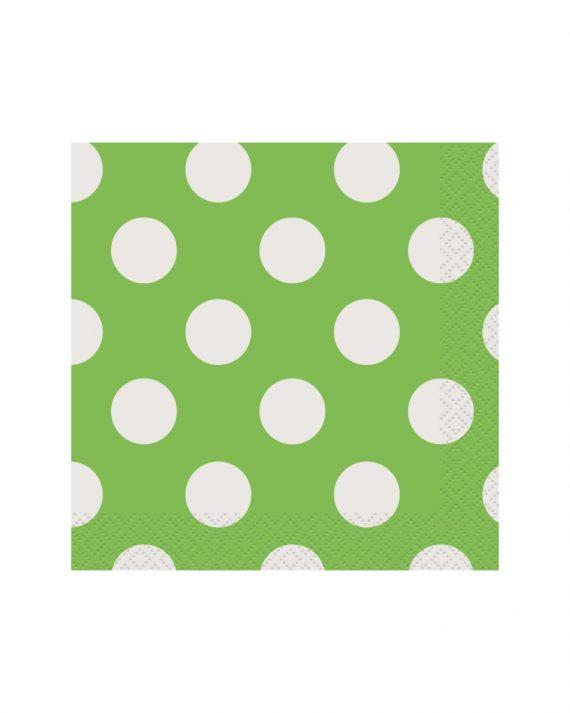 vihreät polka dot servetit