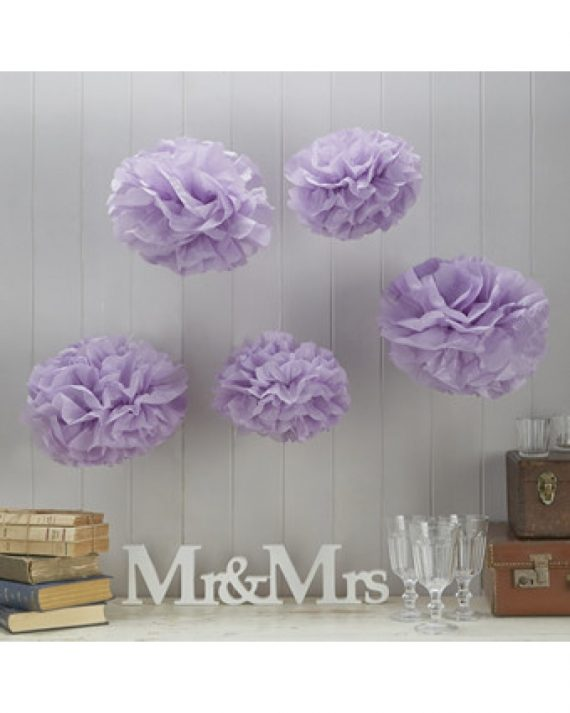 Pompom-setti lila