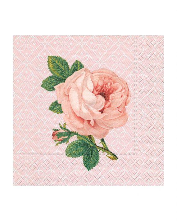 Ruusu lautasliinat ja kahviservetit
