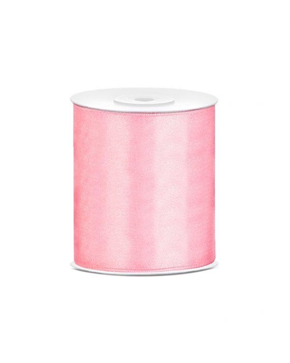 Vaaleanpunainen satiininauha 10 cm x 25 m