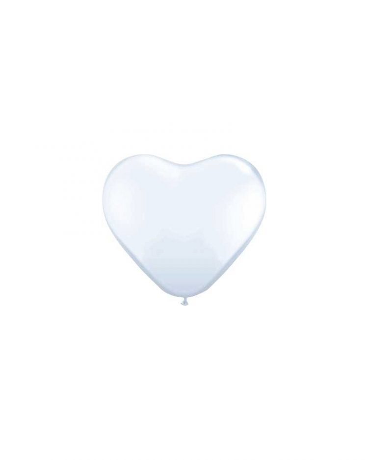 Sydänilmapallot valkoinen