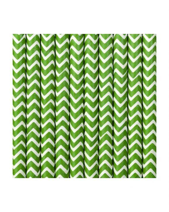 Vihreät chevron-kuvioiset paperipillit
