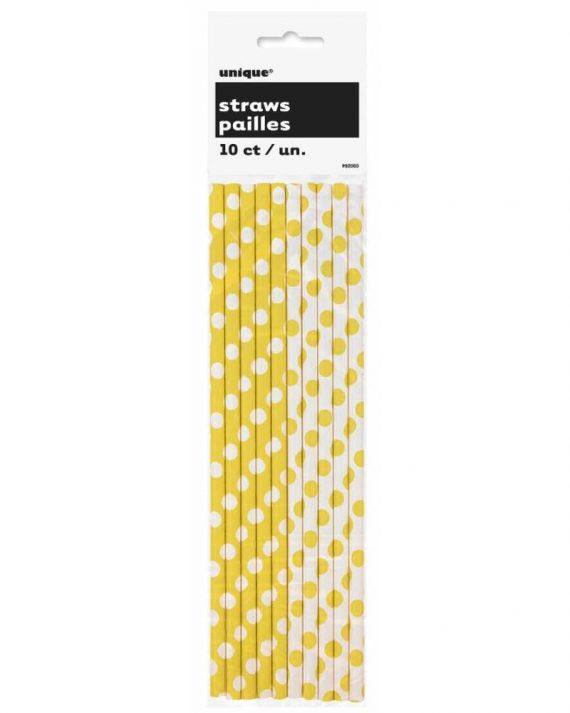 Keltaiset pilkulliset paperipillit