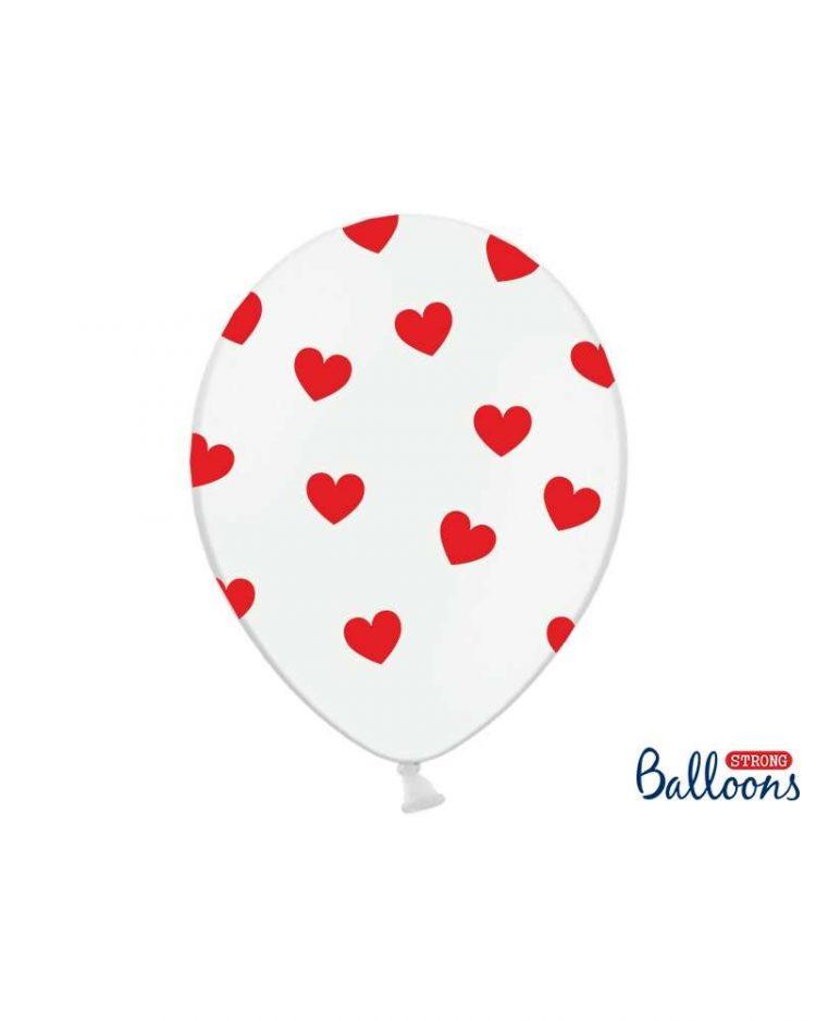 sydän ilmapallot 6 kpl
