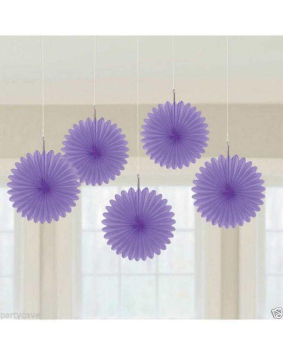 Pienet paperiviuhkat lila