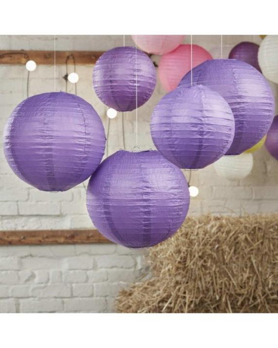 Violetit paperilyhdyt 5 kpl
