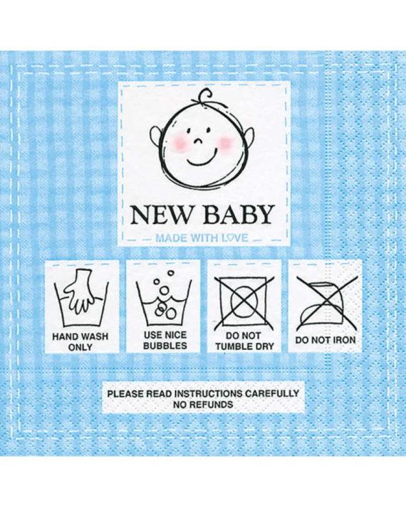 Vaaleansiniset New baby kahviservetit
