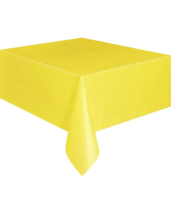 Keltainen kertakäyttöpöytäliina