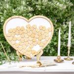Puinen sydäntaulu vaihtoehto vieraskirjalle